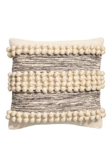 Cushion Cover with Pompoms - Natural white - Home All | H&M CA