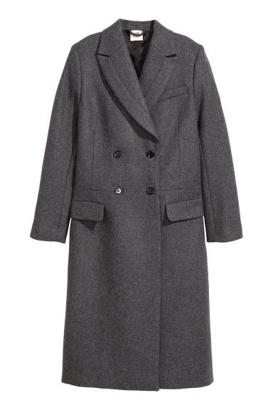 Wool-blend coat - Grey marl - Ladies | H&M IE