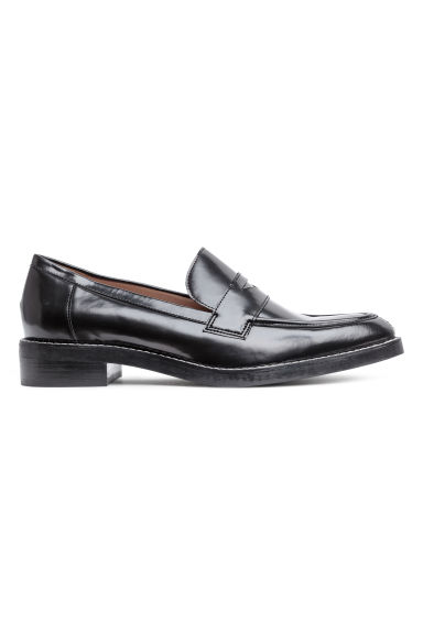 Leather loafers - Black -  | H&M IE