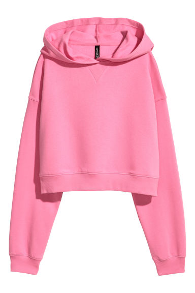 Cropped hooded top - Pink -  | H&M