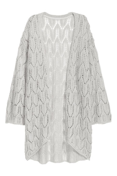 Pattern-knit cardigan - Light grey - Ladies | H&M