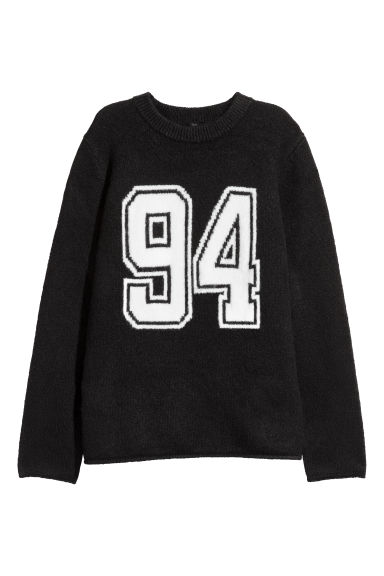 Knitted jumper - Black -  | H&M IE