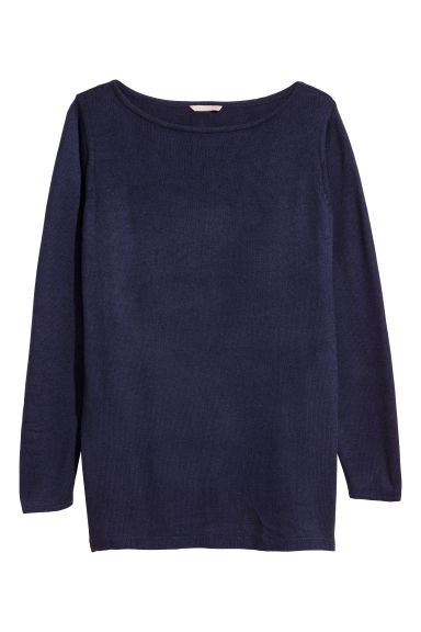 H&M+ Fine-knit jumper - Dark blue - Ladies | H&M