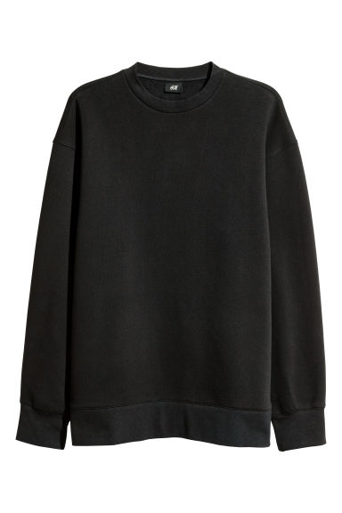 Oversized sweatshirt - Black - Men | H&M