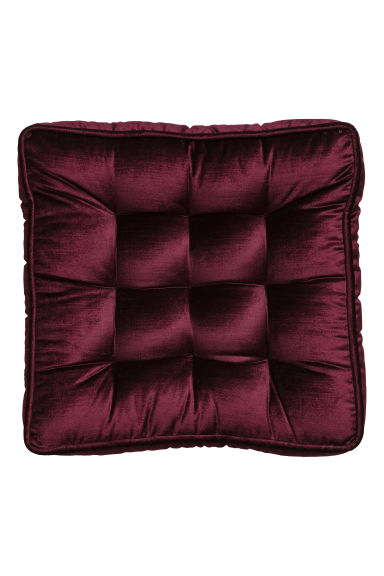 Cuscino per sedia in velluto - Bordeaux - HOME | H&M IT