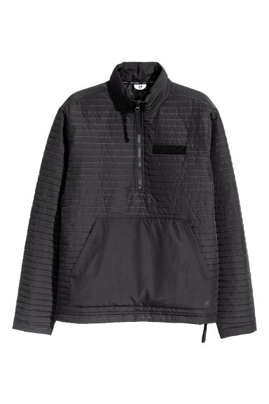Padded pull-over anorak - Black - Men | H&M