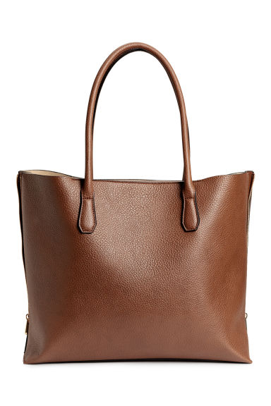 Shopper with zips - Brown -  | H&M CN