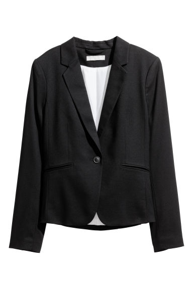 Fitted jacket - Black -  | H&M