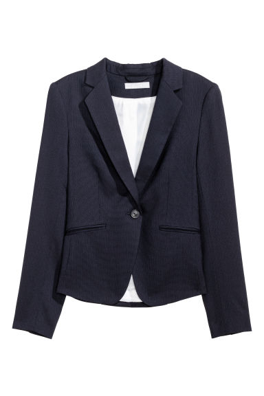 Fitted jacket - Dark blue -  | H&M