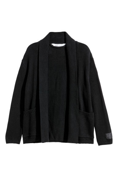 Fine-knit cardigan - Black -  | H&M