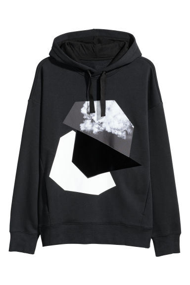 Oversized hooded top - Black -  | H&M