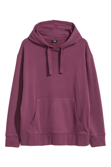 Oversized hooded top - Burgundy - Men | H&M IE