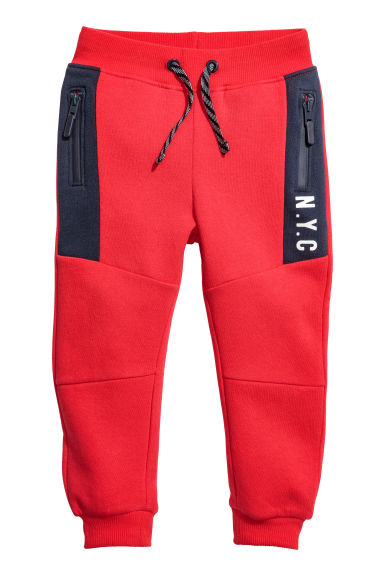Joggers - Red/Dark blue -  | H&M CN