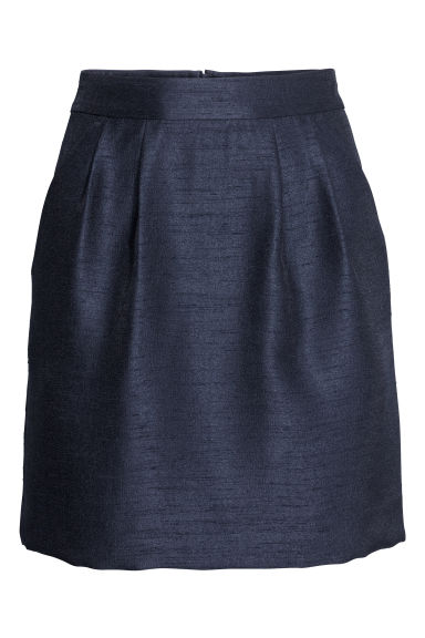 Textured skirt - Dark blue - Ladies | H&M