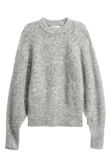 Mohair-blend jumper - Grey marl - Ladies | H&M CN