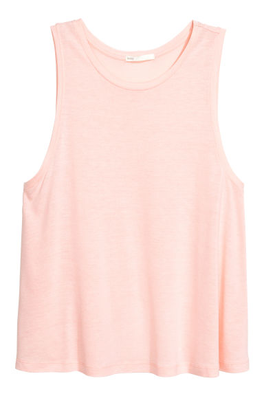 Viscose jersey vest top - Light pink -  | H&M