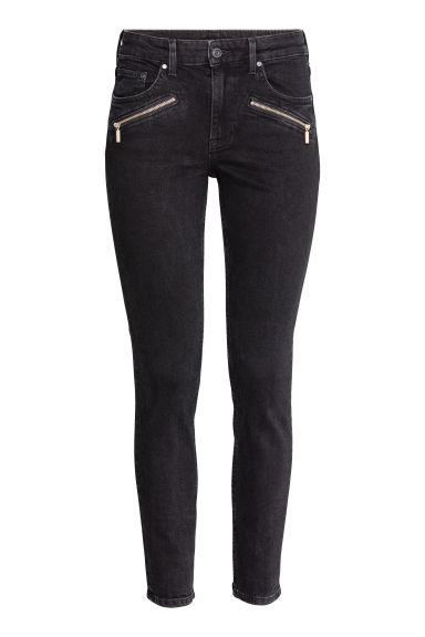 Skinny Regular Ankle Jeans - 黑色 - Ladies | H&M