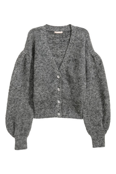 Wool-blend cardigan - Grey -  | H&M