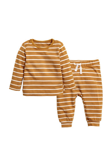Cotton jersey top and trousers - Camel - Kids | H&M CN