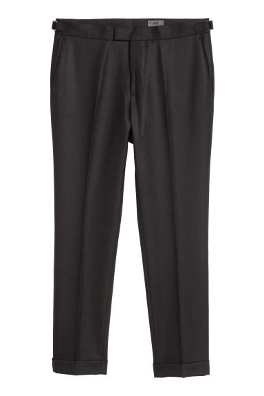 Wool suit trousers - Black -  | H&M