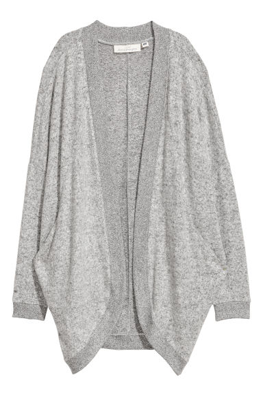 Fine-knit cardigan - Light grey - Ladies | H&M