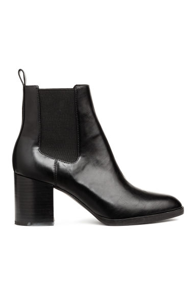 Ankle boots with elastic gores - Black - Ladies | H&M