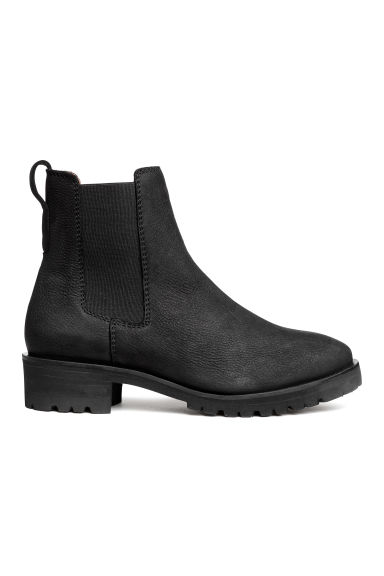 Chelsea boots - Black/Leather -  | H&M CN