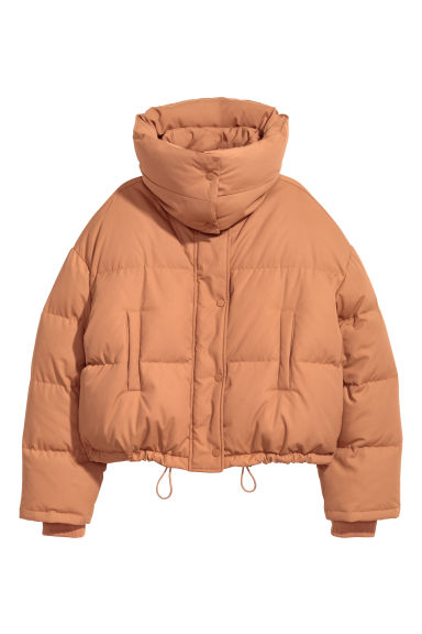 Short down jacket - Light camel - Ladies | H&M