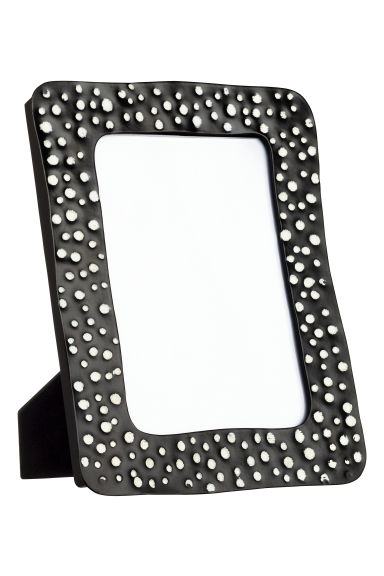 Metal photo frame - Black/White spotted - Home All | H&M IE