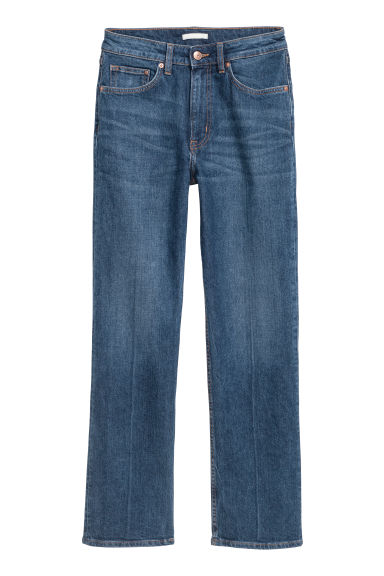 Straight Regular Cropped Jeans - Blu denim scuro - DONNA | H&M CH