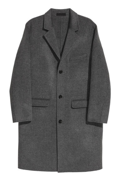 Cashmere-blend coat - Grey marl - Men | H&M
