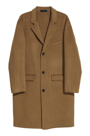Cashmere-blend coat - Camel - Men | H&M CN