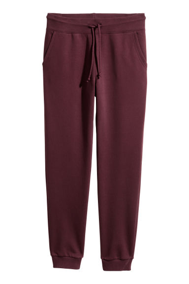 Sweatpants - Bordeauxrood - DAMES | H&M NL