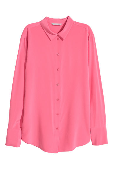 Silk shirt - Pink -  | H&M