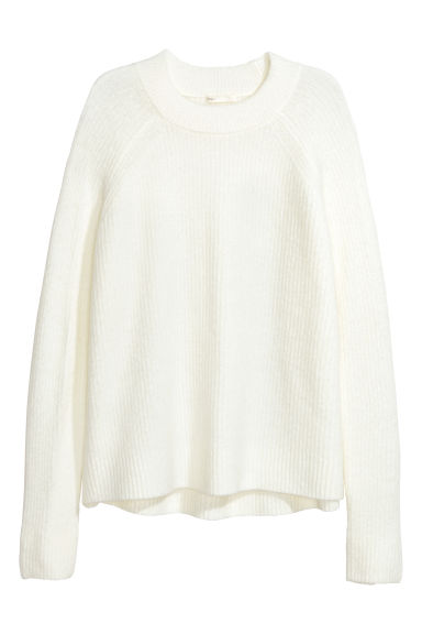 Knitted jumper - White - Ladies | H&M CN