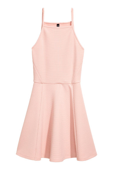 Jacquard-patterned dress - Powder pink - Ladies | H&M CN
