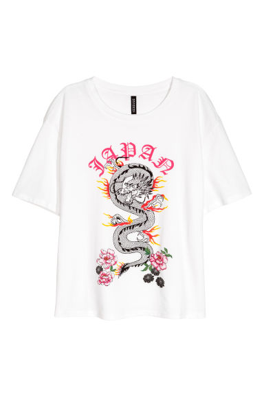 Wijd T-shirt - Wit - DAMES | H&M BE