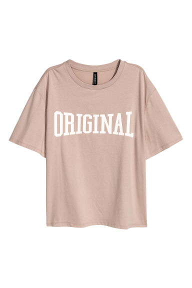 Wide T-shirt - Mole - Ladies | H&M