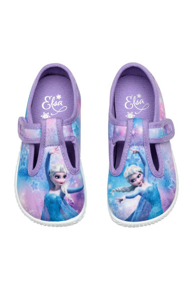 Patterned indoor shoes - Purple - Kids | H&M CN