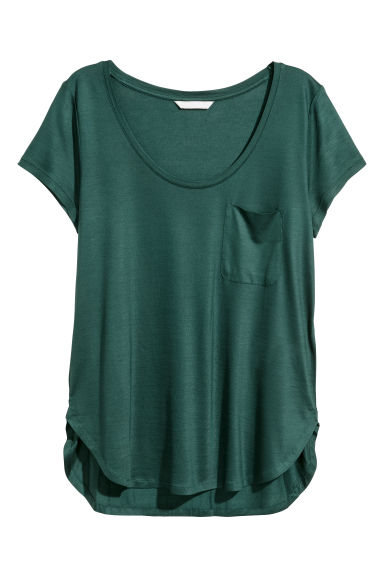 Jersey top - Green - Ladies | H&M IE
