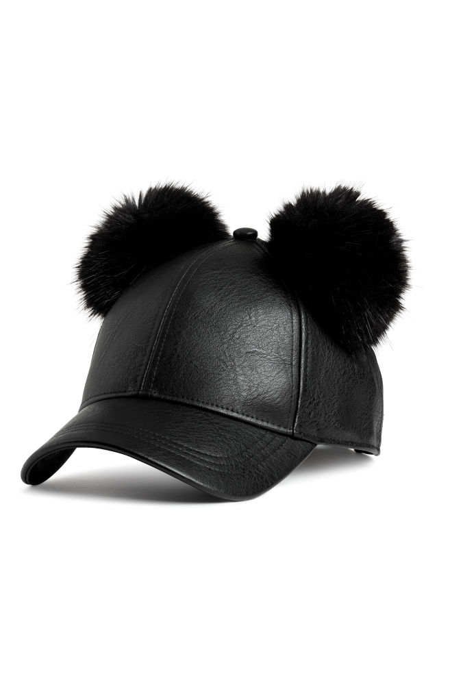 0f736f952a4 Cap with pompoms - Black - Ladies