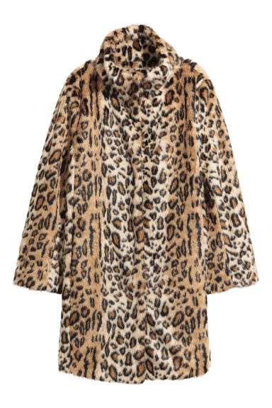 Faux fur coat - Leopard print -  | H&M GB
