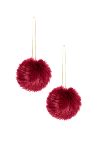 2-pack Christmas decorations - Dark red - Home All | H&M GB