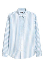 White/Light blue striped