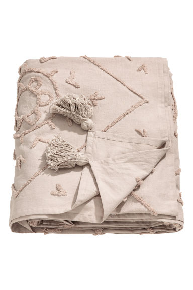 Embroidered cotton bedspread - Mole - Home All | H&M GB