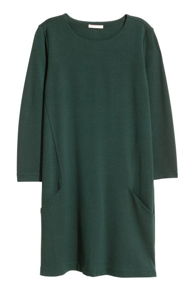 Jersey dress - Dark green - Ladies | H&M CN