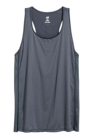 Sports vest top - Grey-blue -  | H&M CN