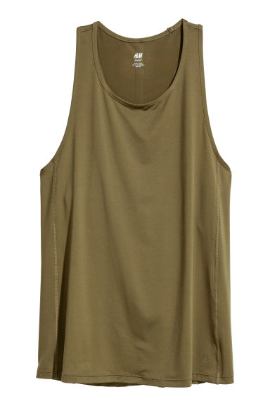 Sports vest top - Khaki green - Ladies | H&M CN