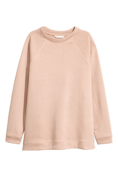 Long sweatshirt - Powder pink -  | H&M CN