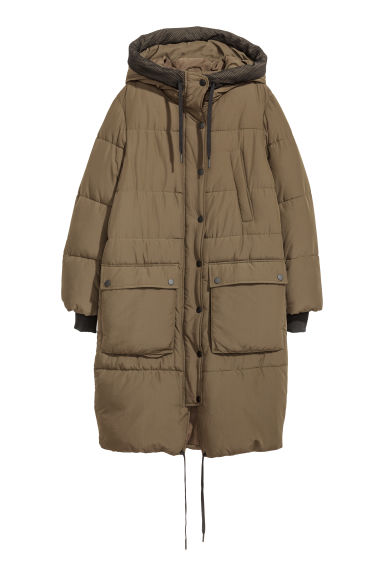 Padded parka - Dark green - Ladies | H&M IE